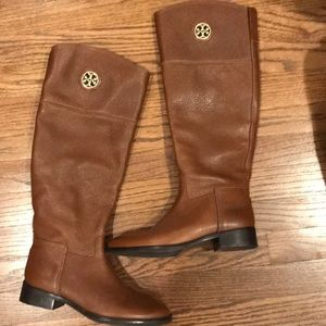 NWOT Tory Burch Junction brown riding boot 6.5